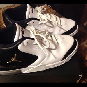 Men Jordan Big FUND PR shoes. White, leather